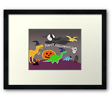 Happy Halloween Dinosaurs Framed Print