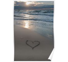 Heart at the beach Poster