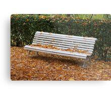 autumn bench Metal Print