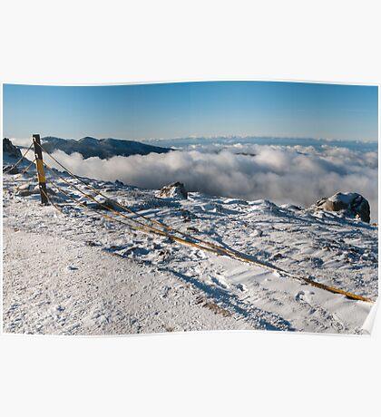 snowy summit Poster
