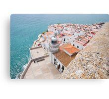 lighthouse at castle Canvas Print