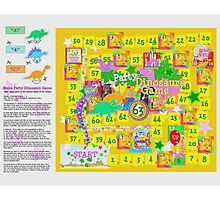 Dinosaur Party Game Board Photographic Print