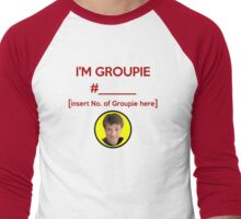 """I'm Groupie Number.... "" Joss Whedon's Dr. Horrible - Dark Men's Baseball ¾ T-Shirt"
