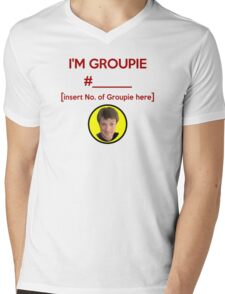 """""""I'm Groupie Number.... """" Joss Whedon's Dr. Horrible - Dark Mens V-Neck T-Shirt"""