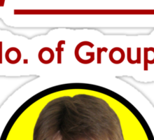 """I'm Groupie Number.... "" Joss Whedon's Dr. Horrible - Dark Sticker"