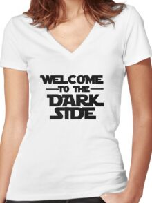 Welcome Dark Side Women's Fitted V-Neck T-Shirt