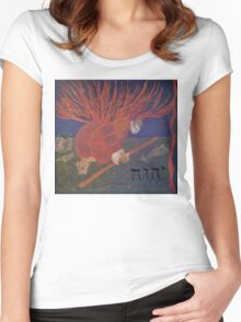 Moses and the Burning Bush Women's Fitted Scoop T-Shirt