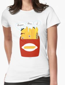 French Fries Womens Fitted T-Shirt