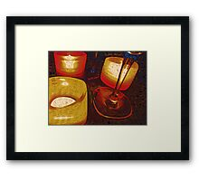 By Candle Lights Framed Print