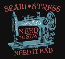 Funny seamstress vintage sewing machine by BigMRanch