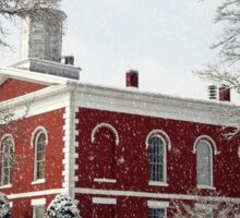 Courthouse in the Snow Sticker
