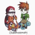 Small Red and Green Guys by ColorMyMemory