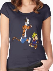 Calvin and Hobbes Jak And Daxter Women's Fitted Scoop T-Shirt