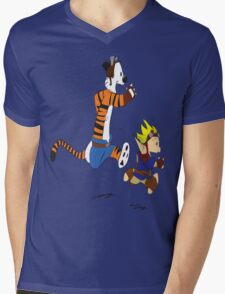 Calvin and Hobbes Jak And Daxter Mens V-Neck T-Shirt