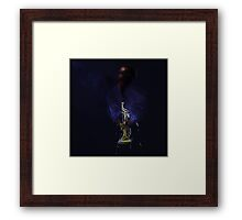 Blues in black - Jazz Trumpet Framed Print
