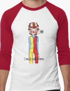 Sam Winchester really hates clowns.  Men's Baseball ¾ T-Shirt