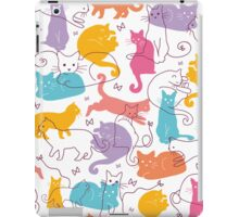 Colorful cats silhouettes pattern iPad Case/Skin
