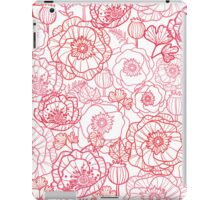 Poppies line art pattern iPad Case/Skin