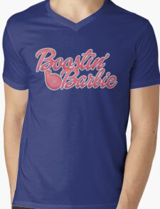 Boostin' Barbie Mens V-Neck T-Shirt