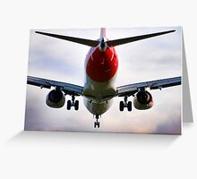 737 landing Greeting Card