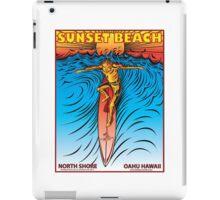 SUNSET BEACH OAHU HAWAII iPad Case/Skin