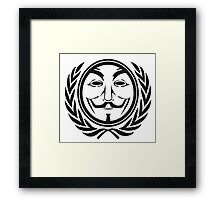 Anonymous community Framed Print