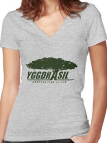 Yggdrasil Women's Fitted V-Neck T-Shirt