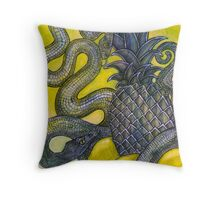 The Sweet and the Sour (Still Life with Snakes) Throw Pillow
