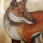 Red Fox Turning by Lynnette Shelley