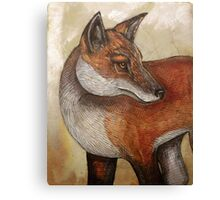 Red Fox Turning Canvas Print