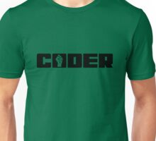 Coder - Black Text for People who Write Code Unisex T-Shirt