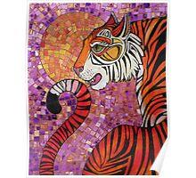 Sunset Tiger Poster