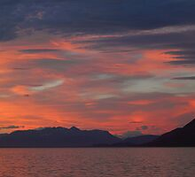 Sunset on the Beagle Channel by Carole-Anne