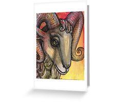 Smiling Goat Greeting Card