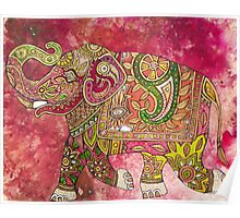 Painted Elephant, Running Poster