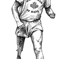 Terry Fox by MacKaycartoons