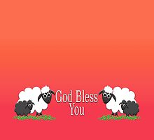 God Bless You with Sheep by M Fernandez