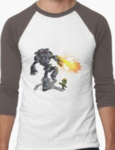 Chicks Dig Giant Robots Men's Baseball ¾ T-Shirt