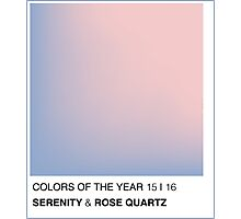 PANTONE 2016 COLORS OF THE YEAR Photographic Print