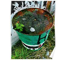 It is either a barrel of weed killer or anti-rust solution  Poster