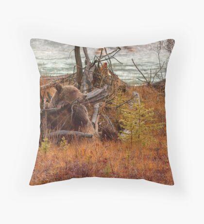 Comfy Log Chair Throw Pillow