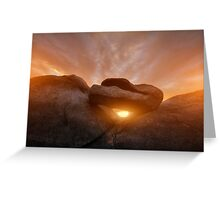 Balancing Sunset Greeting Card