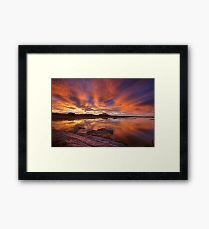 Wet Burn Framed Print