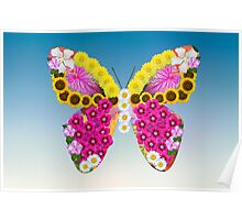Blooming Butterfly Poster