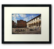 Piazzas di Firenze Framed Print
