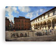 Piazzas di Firenze Canvas Print