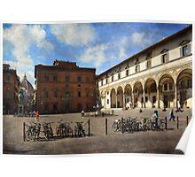 Piazzas di Firenze Poster