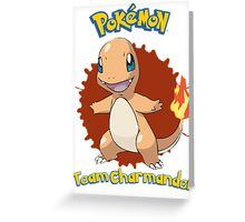 Team Charmander - Pokemon X Y Greeting Card