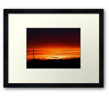 Wattle Point Sunset, South Australia Framed Print