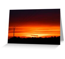 Wattle Point Sunset, South Australia Greeting Card